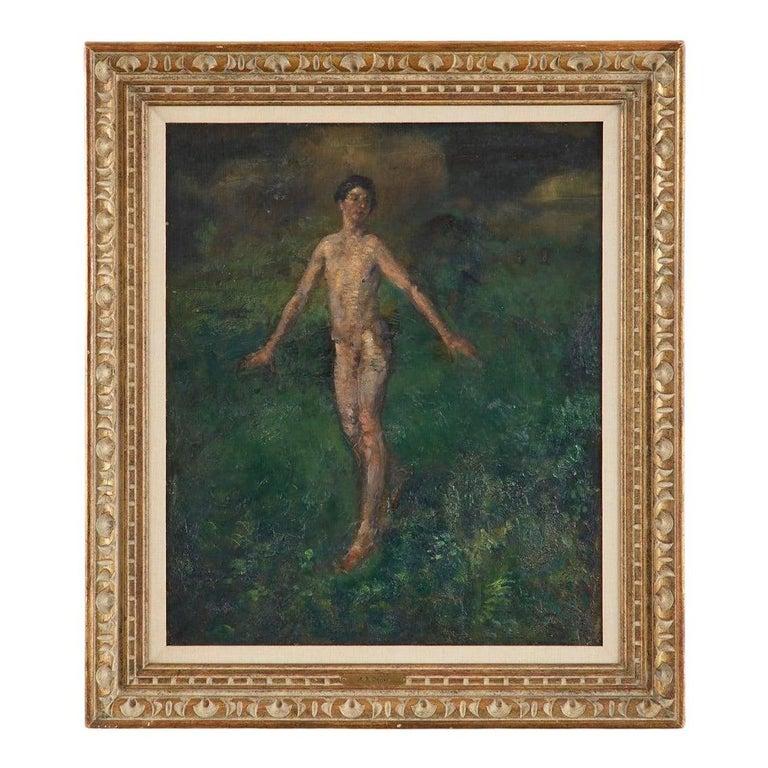 Arthur Bowen Davies Figurative Painting - Boy Oil on Canvas