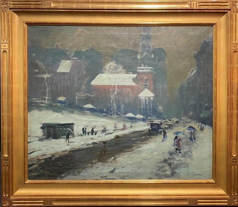 Arthur Clifton Goodwin Landscape Painting - Boston Winter Scene
