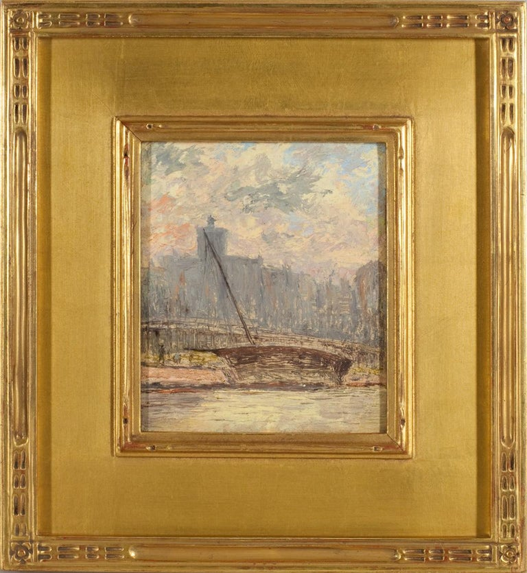 City View from the Harbor - Painting by Arthur Clifton Goodwin