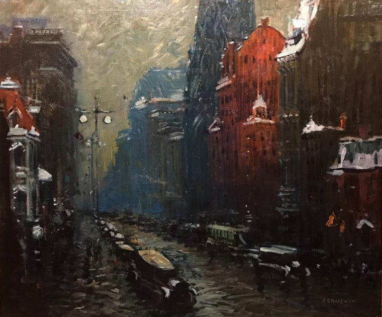Fifth Avenue, New York - Painting by Arthur Clifton Goodwin