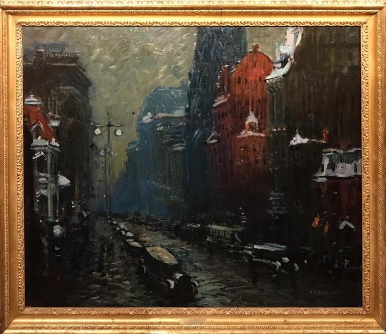 Arthur Clifton Goodwin Landscape Painting - Fifth Avenue, New York