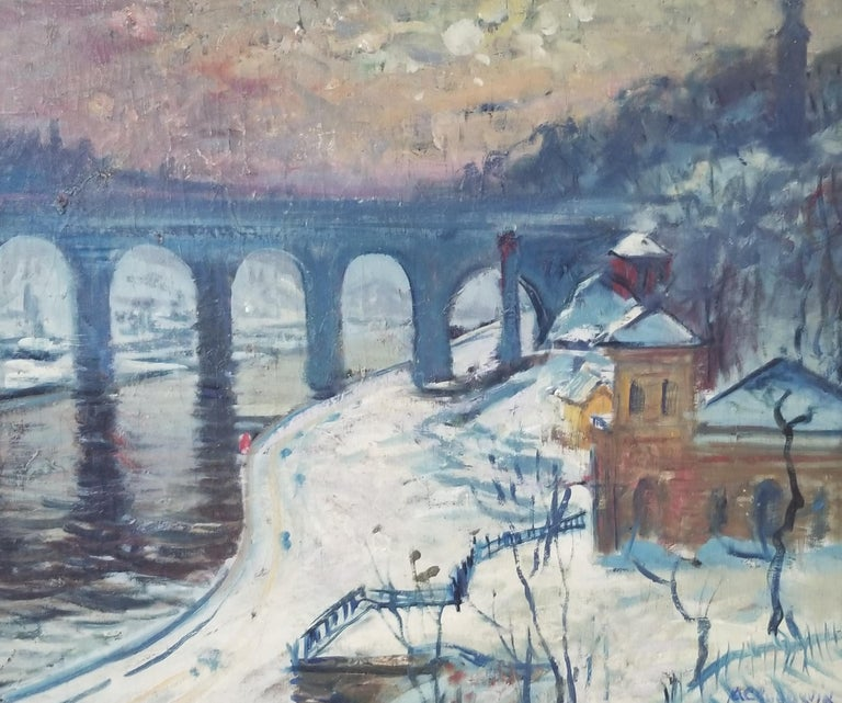 Arthur Clifton Goodwin Landscape Painting - High Bridge, New York