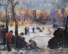 Skaters on the Frog Pond, Boston
