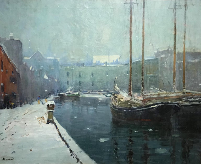 T Wharf - Painting by Arthur Clifton Goodwin
