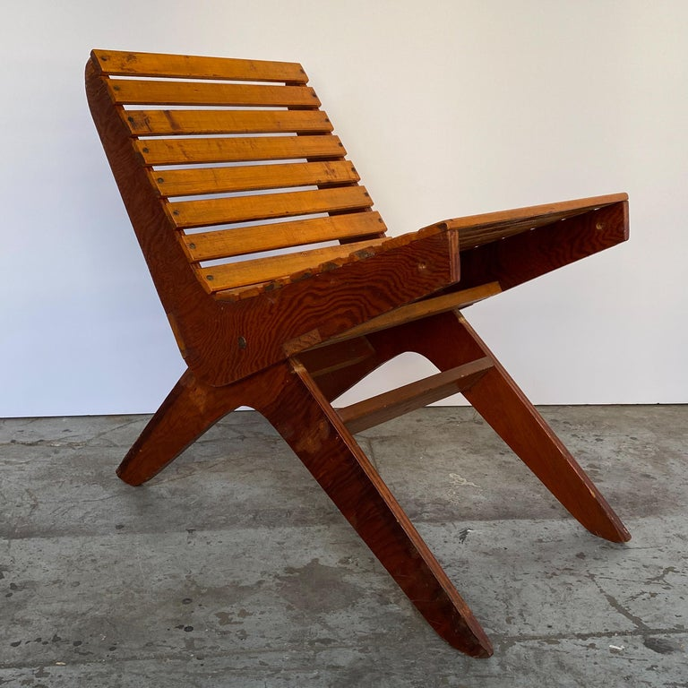 Mid-Century Modern Arthur Collani Tilt-Back Chair For Sale