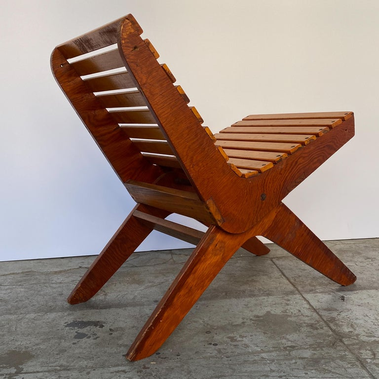 Arthur Collani Tilt-Back Chair In Good Condition For Sale In New York, NY