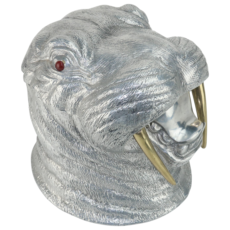 Arthur Court Aluminum & Brass Walrus Wine Cooler Ice Bucket