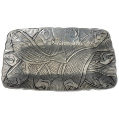 Arthur Court Designed Fish Themed Aluminum Platter
