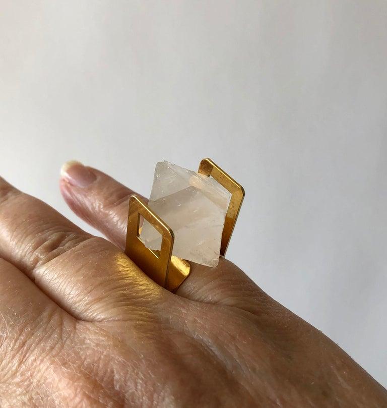 Women's Arthur Court Faceted Quartz California Modernist Ring For Sale