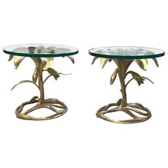 Arthur Court Metal Lily Side Tables