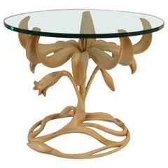 Arthur Court Painted Tulip Side Table