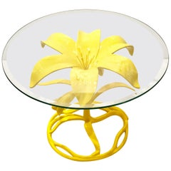 Arthur Court Petite Lily Cocktail Table Base in Yellow