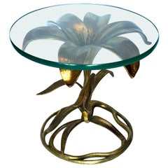 Arthur Court Petite Lily Cocktail Table in Gold