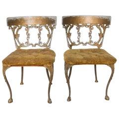 Arthur Court Sophisticated Style Gold Velvet Chairs Fabulous Flair 1970s Vintage
