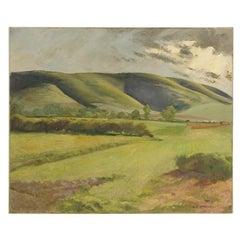 "Arthur Crossingham Sprules, ""Green Fields"" Painting"