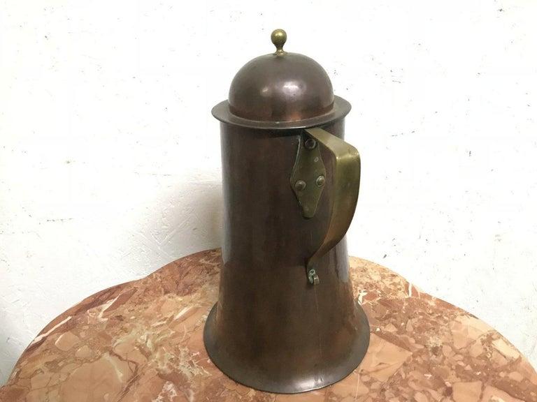 English Arthur Dixon, Birmingham Guild of Handicrafts, Arts & Crafts Copper & Brass Jug For Sale