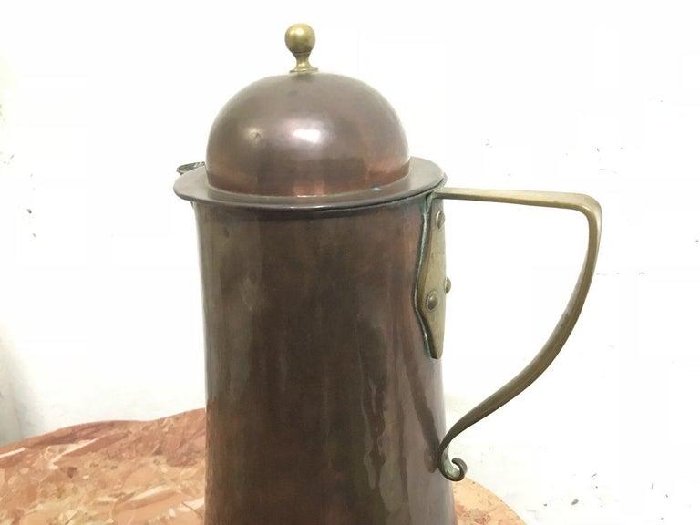 Arthur Dixon, Birmingham Guild of Handicrafts, Arts & Crafts Copper & Brass Jug In Good Condition For Sale In London, GB