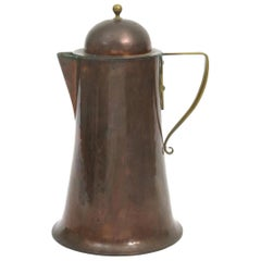 Arthur Dixon, Birmingham Guild of Handicrafts, Arts & Crafts Copper & Brass Jug