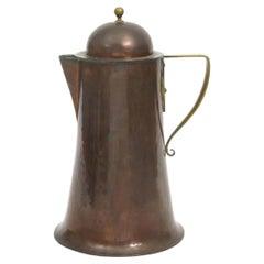Arthur Dixon, Birmingham Guild of Handicrafts, Arts & Crafts Copper & Brass Jug