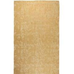Arthur Dunnam Oversized Abstract Yellow Handmade Wool Rug for Doris Leslie Blau