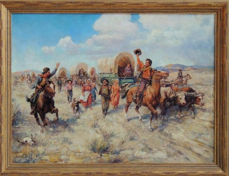 Salutations  - Painting by Arthur E. Becher