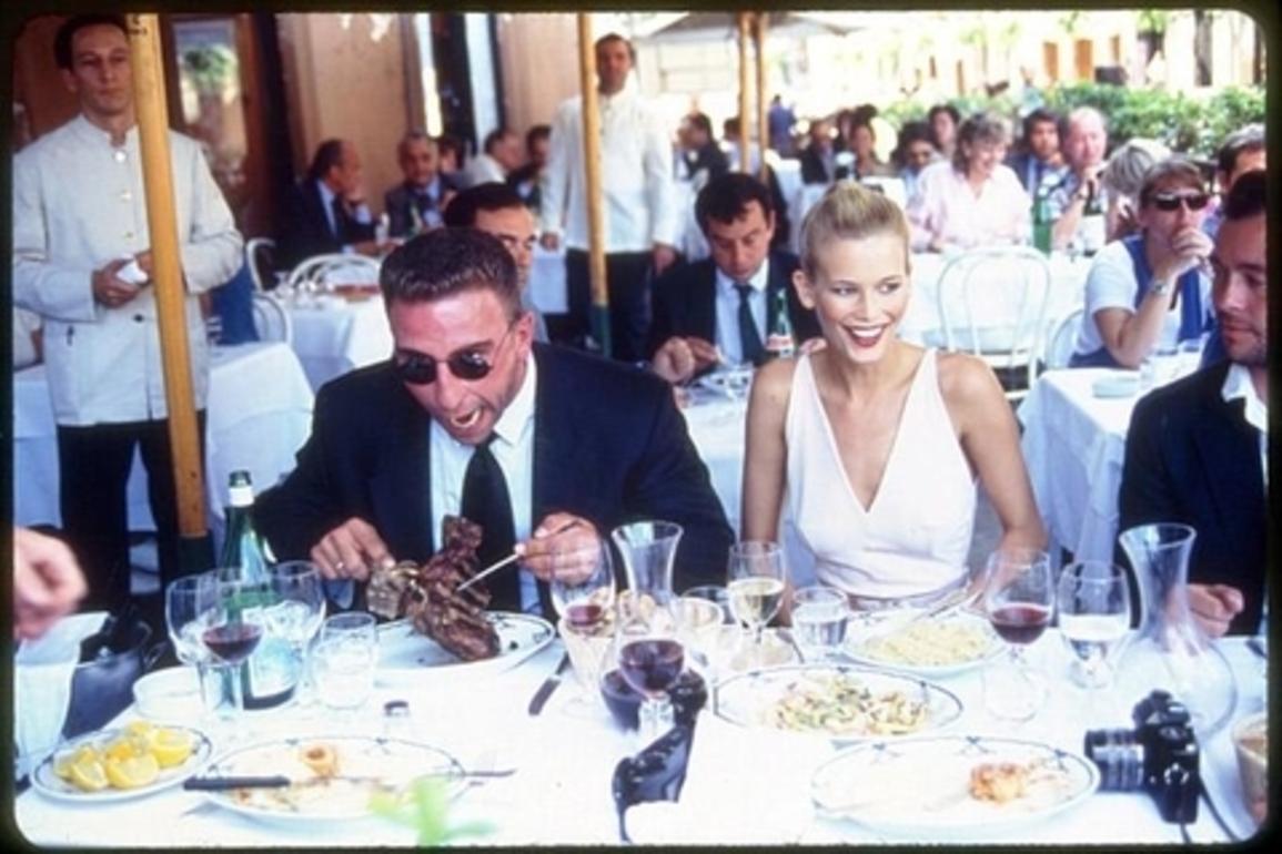 Claudia Schiffer having lunch in Rome - the supermodel loves Italian food!