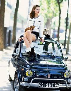 Moss on Fiat - Chanel for Vogue Italia Paris, 1994