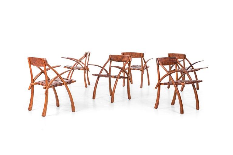 American Arthur Espenet Carpenter California Dining Chairs For Sale
