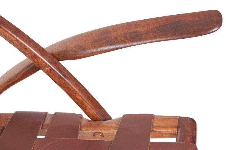 Leather Arthur Espenet Carpenter California Dining Chairs For Sale