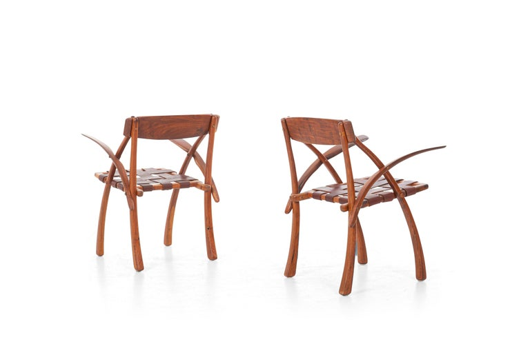 Arthur Espenet Carpenter California Dining Chairs For Sale 1