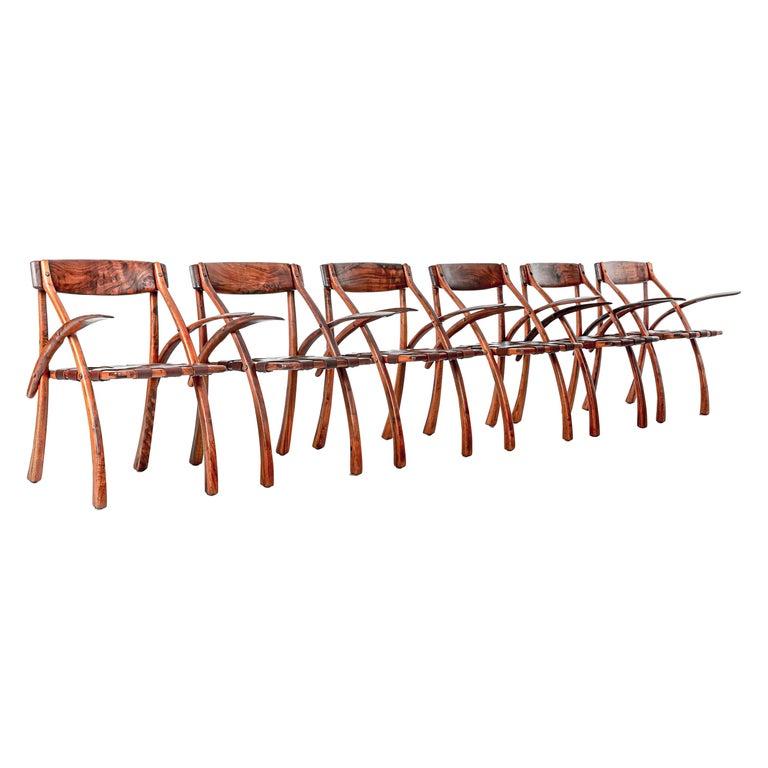 Arthur Espenet Carpenter California Dining Chairs For Sale
