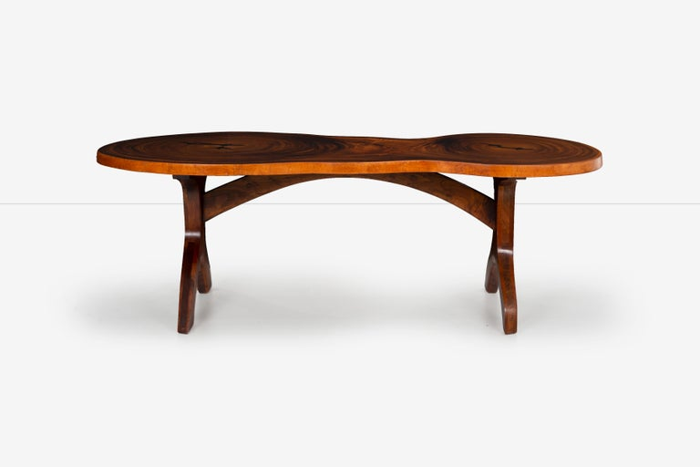 Arthur Espenet Carpenter, unique double-trunk table desk. 