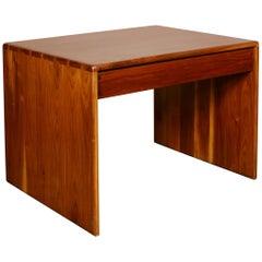 Arthur Espenet Carpenter Walnut Table with Drawer