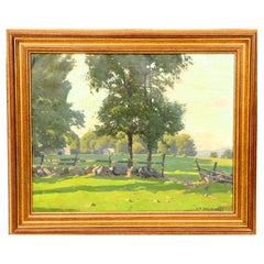 Arthur F. Maynard, Signed Oil on Canvas, a Rural Landscape
