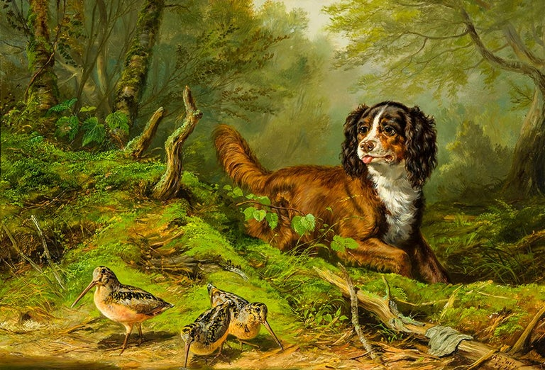 <i>The Intruder</i>, 1864, by Arthur Fitzwilliam Tait, offered by Hirschl & Adler