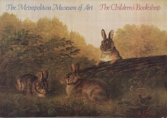 1985 After Arthur Fitzwilliam Tait 'Rabbits on a Log' Contemporary USA Offset