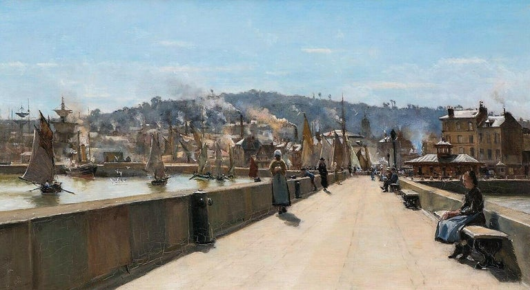 Arthur George Bell Landscape Painting - View Of Cherbourg, 19th Century