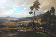 A Scottish Landscape 19th / 20th Century by Yorkshire artist Arthur H Rigg