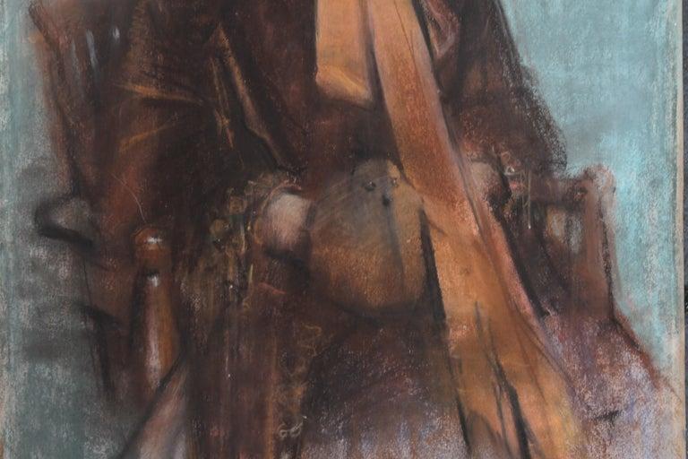 Portrait of Victorian lady- British 19thC Impressionist painting female portrait 4