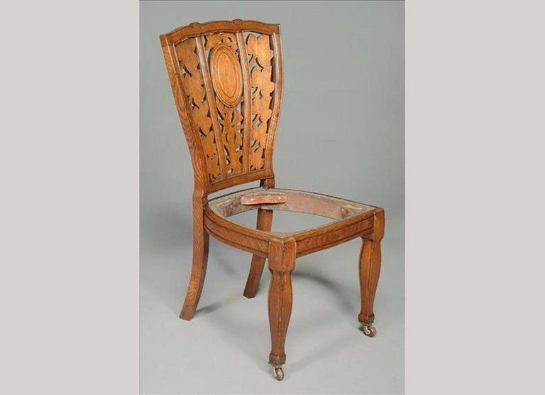 Hand-Crafted Arthur Heygate Mackmurdo for the Century Guild. An Important Art Nouveau Chair For Sale