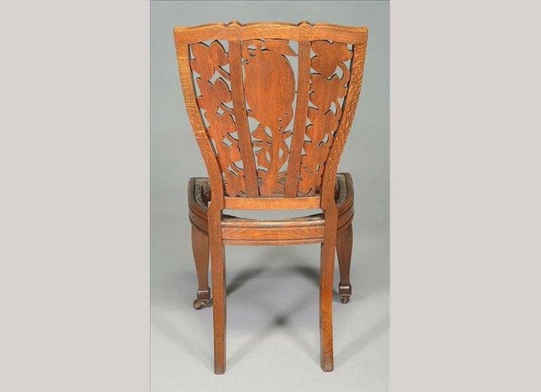 Late 19th Century Arthur Heygate Mackmurdo for the Century Guild. An Important Art Nouveau Chair For Sale