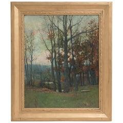 Arthur Hoeber Signed Tonalist Oil Painting, circa 1900