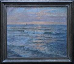 Sunset Seascape - Australian art Victorian Impressionist marine oil painting