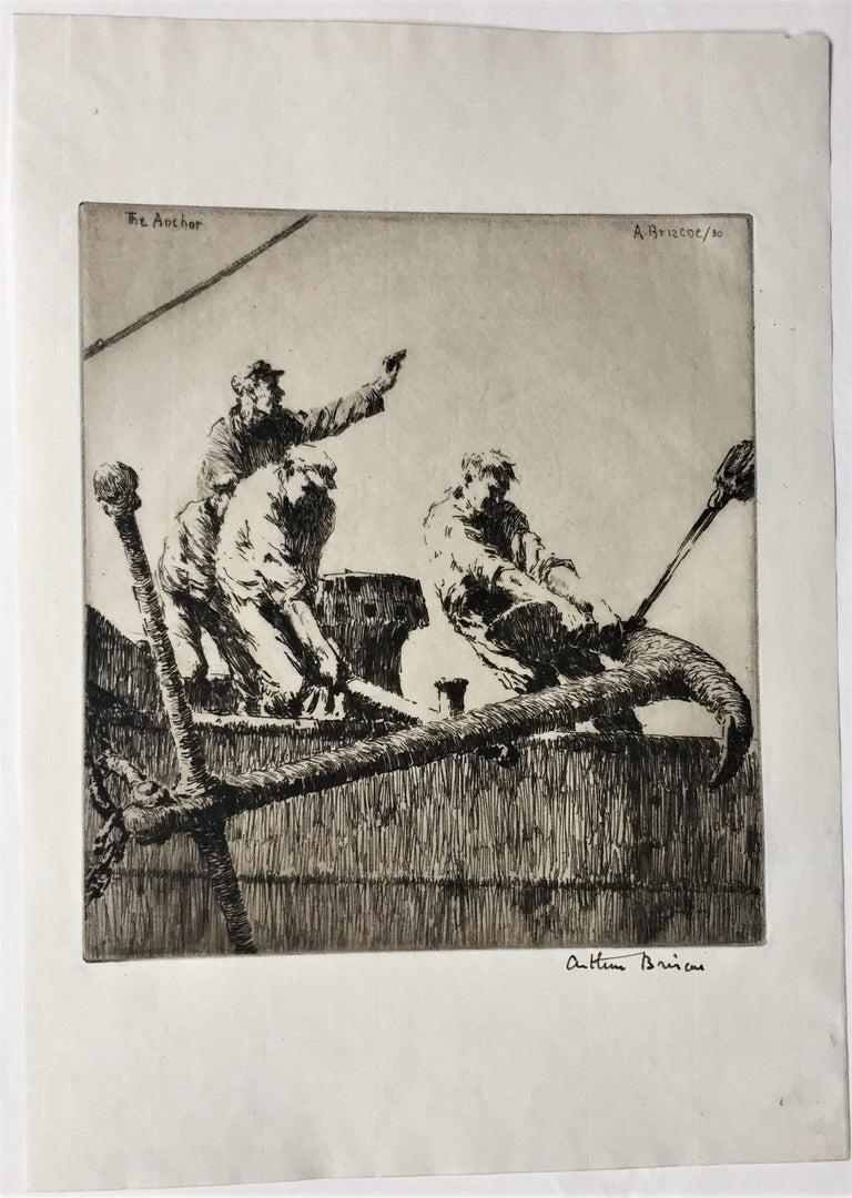 The Anchor - Print by Arthur John Trevor Briscoe