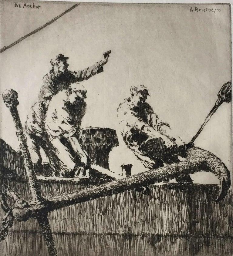 Arthur John Trevor Briscoe Figurative Print - The Anchor