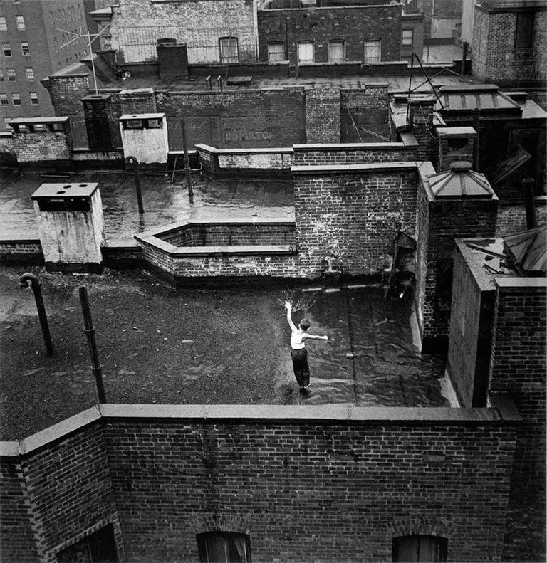 Arthur King Black and White Photograph - Lyric Moment, From Manhattan Bridge