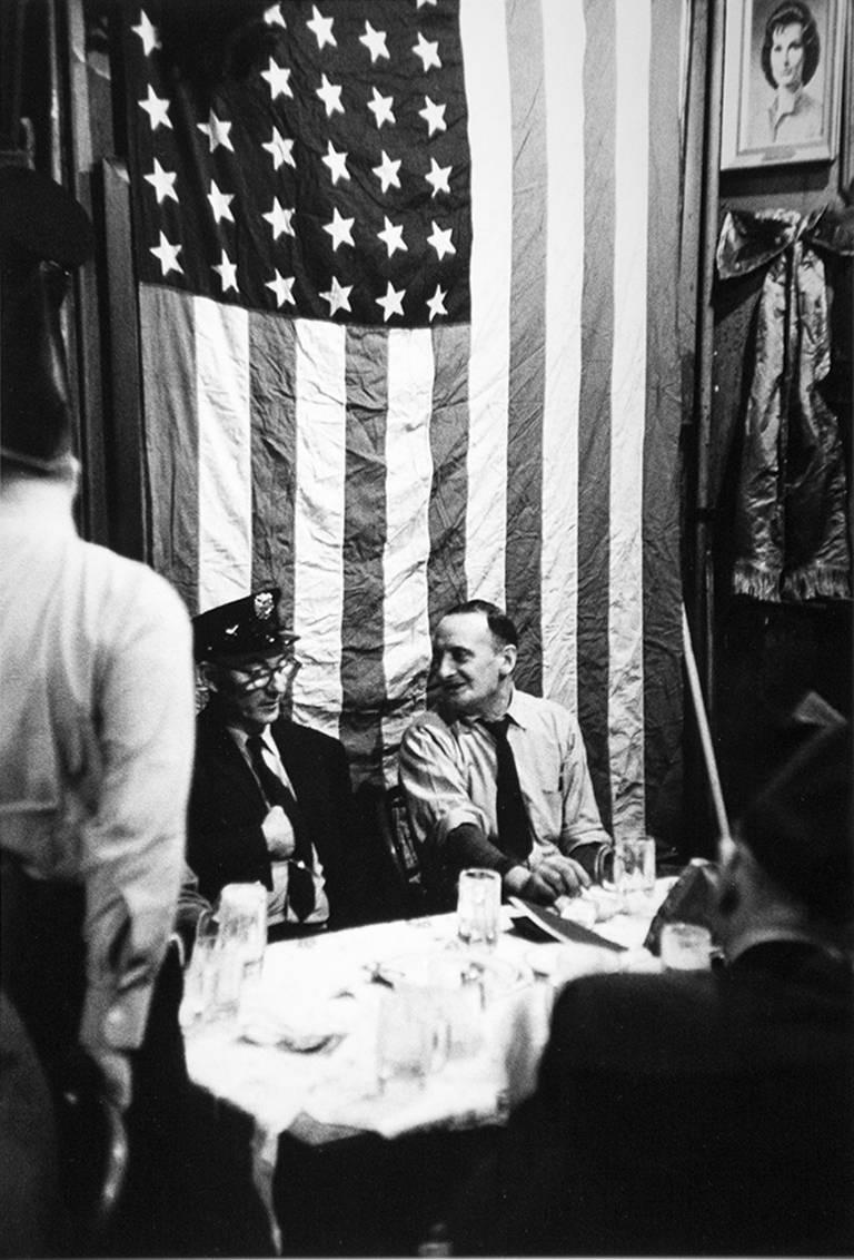 Arthur King Black and White Photograph - McSorley's, St. Patrick's Day Flag
