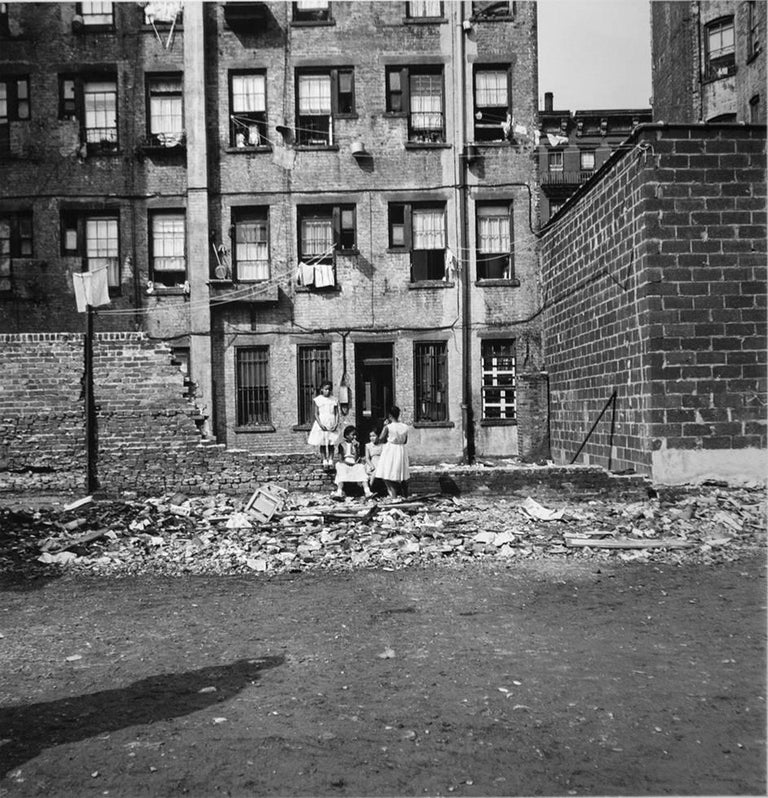 Arthur King Black and White Photograph - Vacant Lot, Girls