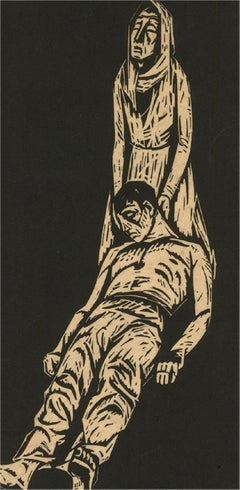Arthur Kolnik (1890-1972) - Early 20th Century Woodcut, Despair