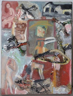 Arthur Krakower (1921-2009) Original Mixed Media with Rope c.1998